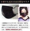 画像3: 4層不織布黒マスク PM2.5対応 PFE99%以上 20枚パック (3)