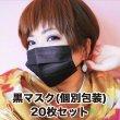 画像1: 4層不織布黒マスク PM2.5対応 PFE99%以上 20枚パック (1)