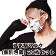 画像1: 迷彩柄マスク 4層不織布マスク 個別包装 男女兼用 20枚パック (1)