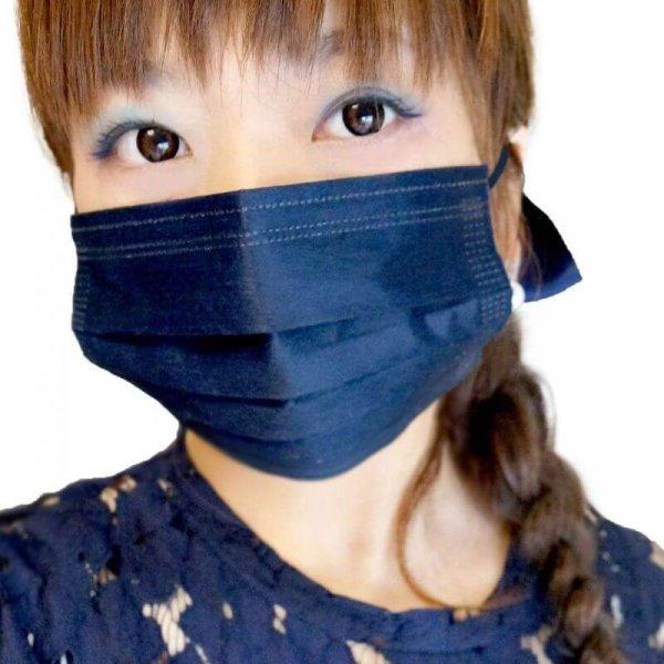 画像1: 紺色マスク 4層不織布マスク 個別包装 男女兼用 20枚パック (1)