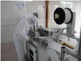 清潔なマスク専用の製造ライン