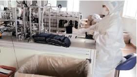 清潔な機械・服装
