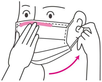 マスクの付け方3