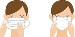 鼻と口をしっかり覆う