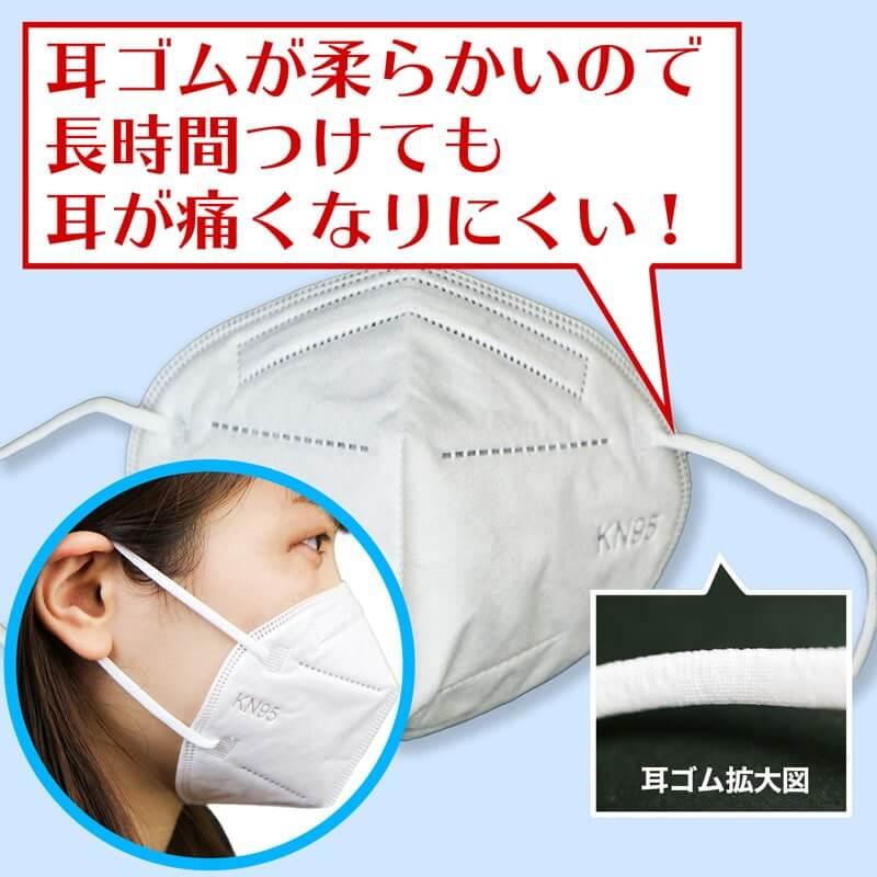 KN95マスクの耳ゴム