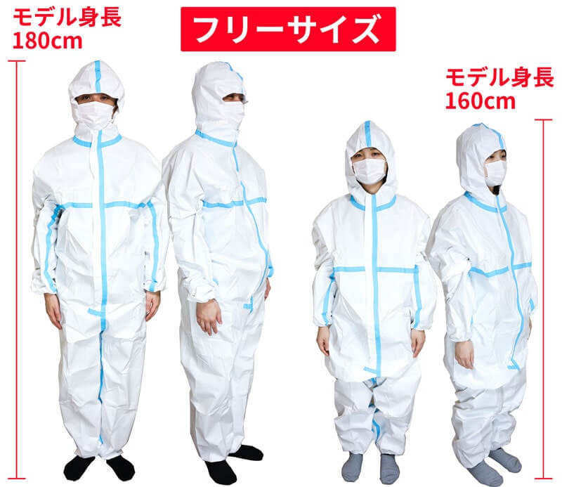 防護服の装着写真